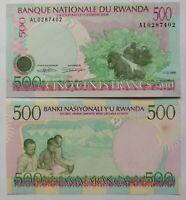 RUANDA RWANDA 500 francos, emisión 01-12-1998, P-26. Plancha UNC.