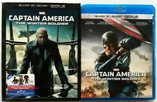 CAPTAIN AMERICA THE WINTER SOLDIER 3D BLU RAY WALMART EXCLUSIVE + FURY SLIPCOVER