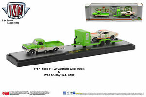 M2 Machines Auto Haulers '67 FORD F-100 CUSTOM CAB TRUCK '65 SHELBY SPRITE (cart