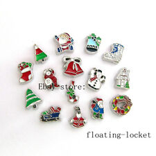10pcs Christmas Floating charms For Glass living memory Locket FC1107