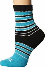 Thorlos Womens Shorties Thin Padded Casual Quarter Socks Turquoise - Small