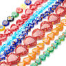 20 Strds Millefiori Lampwork Glass Beads Smooth Heart Colorful Loose Bead 7~20mm
