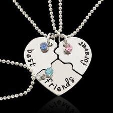 """3PCS Alloy """"Best Friends Forever"""" Heart Pendant Necklaces For Children Necklace"""