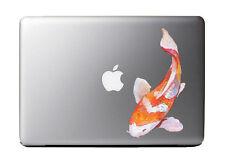 "Watercolor Painted Japanese Koi Fish Full Color - Vinyl Decal for 13"" Macbook …"