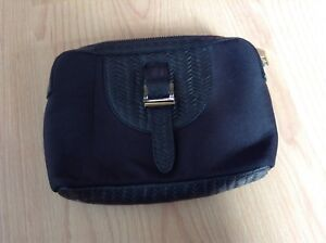 meli melo black blue cosmetic make up bag made in Italy - Rare 💕