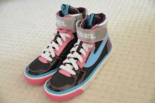 New Diesel Clawster Strap K YO Black Pink High Top Trainers Shoes Sneakers UK 4
