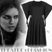 Vintage JEAN Varon Robe 60 s 70 s Studio 54 noir Beatnik 10 12 14 16 Wearable Art
