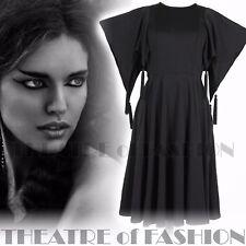 VINTAGE JEAN VARON DRESS 60s 70s STUDIO 54 NOIR BEATNIK 10 12 14 16 WEARABLE ART