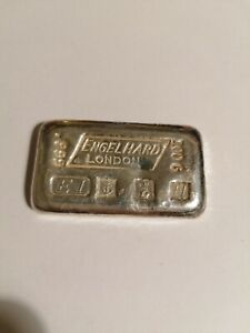 Rare Engelhard London 100g Silver Bar Birmingham