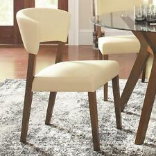 Paxton Cream Upholstered Dining Chairs by Coaster 122182 - Set of 2