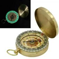 Brass Pocket Compass Watch Style Military Army Camping Hiking Outdoor Keychain~