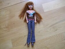"""Fully dressed 12"""" doll with long red hair"""