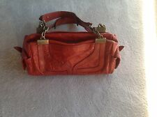 Dolce Gabbana Leather Purse Handbag Shoulder D&G Bag -Brick Red - EUC