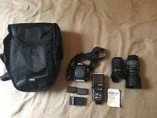 Canon EOS 20D 8.2MP Digital SLR Camera - 2 Lenses, Flash, Batteries, Case