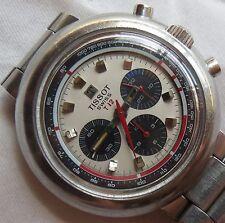 Tissot T12 Chronograph mens wristwatch load manual steel case & bracelet