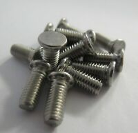 M6, FLUSH HEAD SELF CLINCH STUDS 10,12,15,20, 25 Long STEEL BZP UK Manufactured