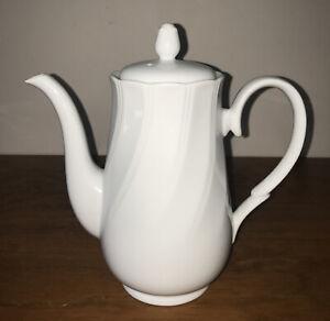 Sheffield Bone White Coffee Pot Fine Porcelain Made In Japan