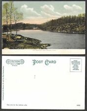 Old Connecticut Postcard - New Canaan - The Resevior - Litho-Chrome #93881