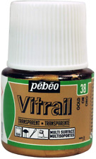 PEBEO Vitrail Stained Glass Effect Glass Paint 45-Milliliter Bottle, Gold,Gold
