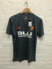 Valencia adidas Men's Shirt Football Training T-Shirt - Grey - New