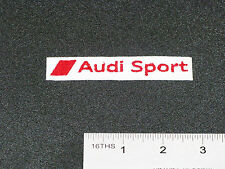 AUDI SPORTS NAME BADGE CAR MOTORCYCLE BIKER RACING WHITE PATCH - MADE IN USA