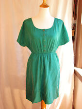 ANTHROPOLOGIE FEI TURQUOISE SUEDED SILK SUPER-SOFT SUMMER DRESS XS/S