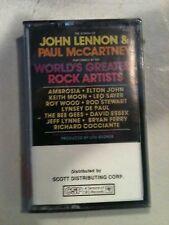 JOHN LENNON & PAUL McCARTNEY WORLDS GREATEST ROCK ARTISTS AMBROSHIA ECT CASSETTE
