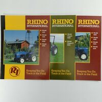 Rhino Tractor Sales Brochures Lot of 3 Farm Garden Agriculture Equipment