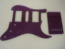 Strat Stratocaster Purple Mirror pickguard set Fender HSH