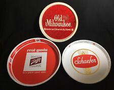 New listing 3 Vintage Metal Beer Trays, Old Milwaukee, Schaefer, Schlitz