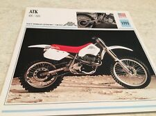 Carte moto ATK 406 604 1991 collection Atlas motorcycle USA
