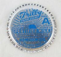 Vintage Trilby Farm Dairy Milk Bottle Cap
