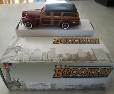 VERY RARE NIB BROOKLIN 1:43 1940 BUICK SPECIAL ESTATE WAGON M-59 - ROYAL MAROON