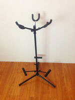 Haze GS029 3 GUITAR STAND  Guitar Bass Instrument Display Rack Holder Folding