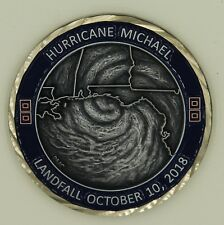 Hurricane Michael Tyndall Air Force Base FL Antique Silver Finish Challenge Coin