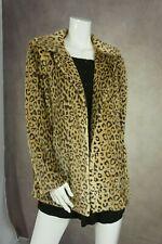 Womens leopard print faux fur coat BHS Size 16 NWT Was £69