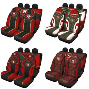 San Francisco 49ers Auto Seat Covers Car Truck SUV 5 Seater Front Rear Protector