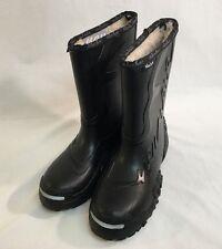 Slusher Unisex Mens Womens Black Rubber Insulated Winter Snow Boots EU 39 US 8.5