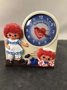1974 Janex Raggedy Ann & Andy Talking Alarm Clock