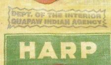 VTG HARP PLUG CUT JOHN WEISERT TOBACCO ST LOUIS MISSOURI MO QUAPAW INDIAN AGENCY