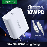 Ugreen Quick Charge 4.0 3.0 PD Charger 18W USB Type C Fast Charger for iPhone 11