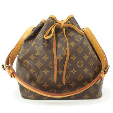 LOUIS VUITTON Monogram Petit Noe M40818 Shoulder Bag Brown Canvas