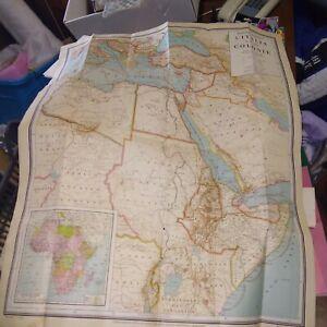 Mappa Geografica l'Italia e le sue colonie 1935 Achille Dardano scala 1:7000000