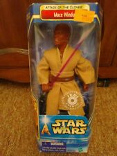 Star Wars Mace Windu 12 Inch Action Figure Attack of the Clones 2002 NEW in Box