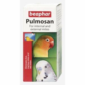 Beaphar pulmosan 10 ml for internal & external mites lice lices Bird Supplies