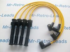 YELLOW 8MM PERFORMANCE IGNITION LEADS CLIO MK11 2.0 16V SPORT PUNTO QUALITY HT