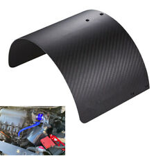 Universal Carbon Fiber Style Car Air Intake Filter Neon Black Heat Shield Cover