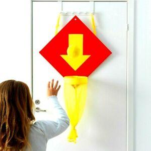 Ikea LUSTIGT PLAY Soft Basketball Hoop Door Hamper Yellow/Orange New TOY