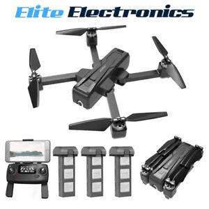 JJRC X11 5G Wifi GPS Drone 2K HD Camera Foldable RC Quadcopter + 1 2 3 Battery