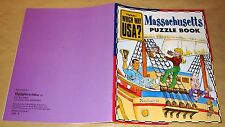 Highlights Magazine WHICH WAY USA Massachusetts History Puzzles Games Map